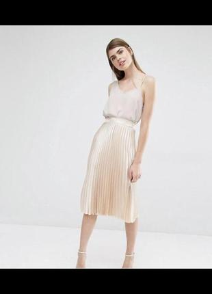 Нежно - пудровая юбка - плиссе