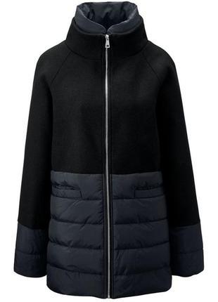 Комбинированное деми пальто, шерсть 42 euro tchibo, германия