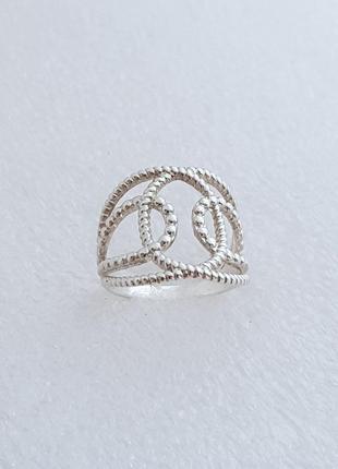 Серебряное кольцо 925 проба, размер 17