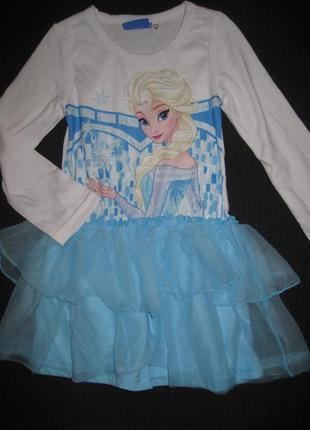 Платье с принцессой дисней 2-3г