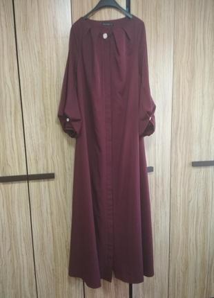 Шикарное платье в пол макси бордо марсала от. eliff story, p. m