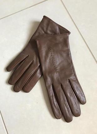 Перчатки кожаные утеплённые стильные модные pat rizia pepe размер 7,5 или m/l