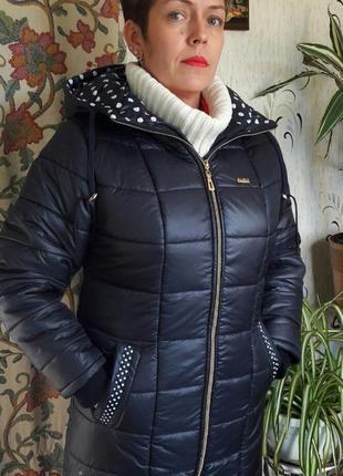 Зимнее пальто батал 62 размер