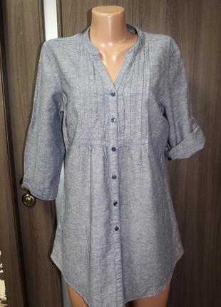 Натуральная блузка f&f в идеальном состоянии 2хl