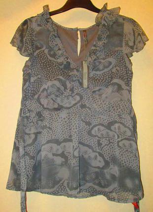 Очень красивая блуза south принт размер 14