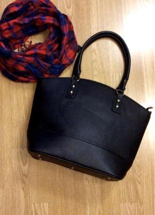 Фирменная деловая сумка h&m,большая черная сумка,сумочка