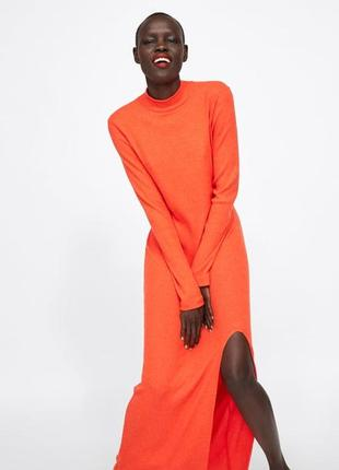 Трикотажное платье zara