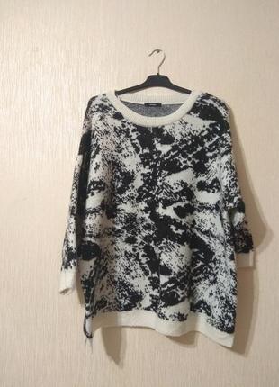 Классный чёрно-белый свитер пуловер george большого размера 18-22 4xl-6xl