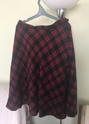 Шерстяная отличная трендовая юбка