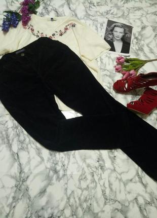Вельветовые тёплые брюки