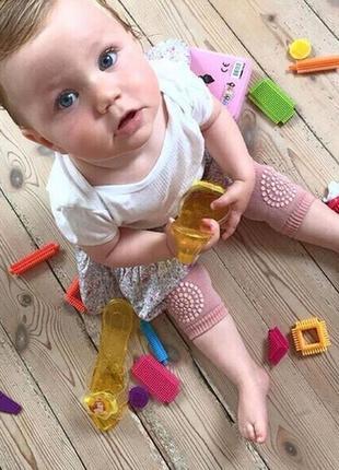Детские наколенники для малышей с силиконовой пупыркой