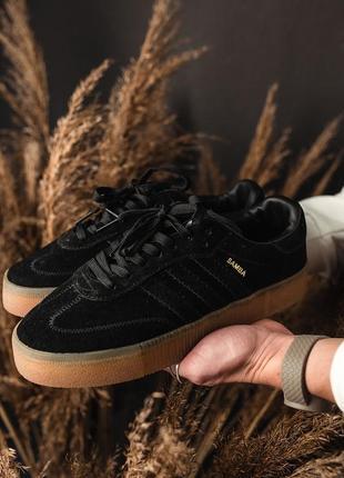 Шикарные женские кроссовки adidas samba black 😃 (весна лето осень)