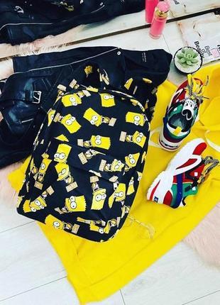 Рюкзак портфель с бартом симпсоном