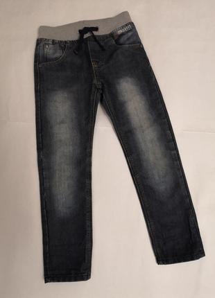 Брендовые джинсы denim ovs на 5-6 лет, рост 116 см