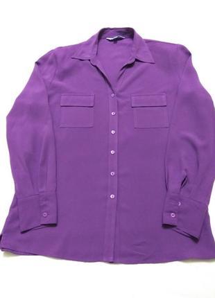 Сорочка, блуза модного фиолетового цвета.