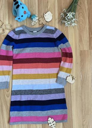 Фирменное тёплое платье свитер gap малышке 5 лет состояние отличное
