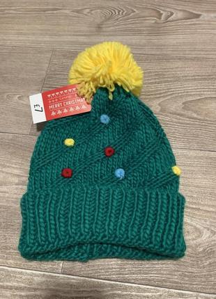 Новогодняя шапка-елочка george