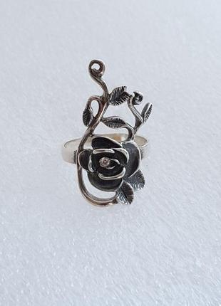 Кольцо троянди серебро 925 проба,  размер 17.5
