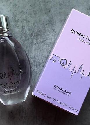 Туалетная вода born to fly for her от oriflame