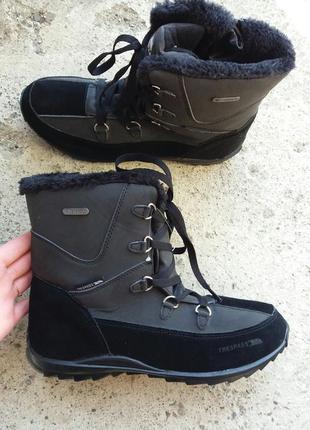 Р.40 trespass (оригинал) замшевые зимние ботинки.
