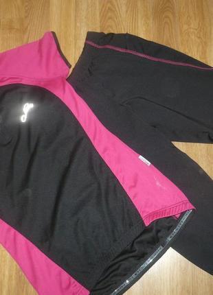 Велокостюм костюм спортивный xs черно-розовый