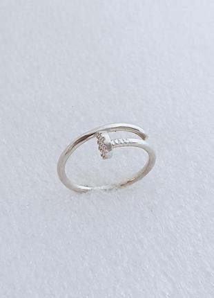 Серебряное кольцо гвоздь в стиле cartier