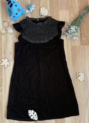 Фирменное нарядное платье next девочке 7 лет состояние отличное