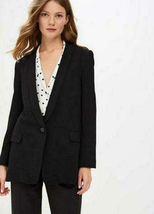Черный базовый классический пиджак, жакет, блейзер, жекет