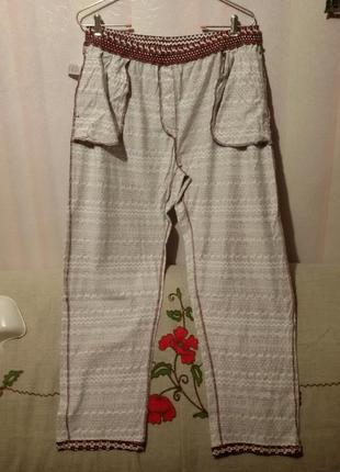 Трикотажные домашние штаны на высокий рост (пот 45-63 см) индия