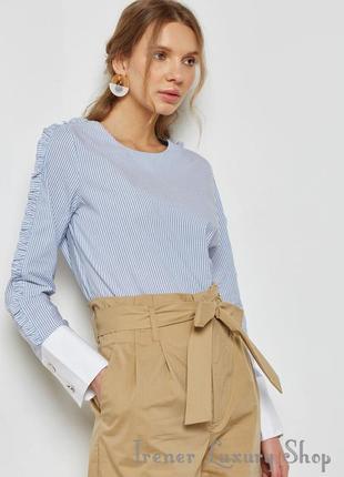 Стильная полосатая рубашечка от mango xs-s