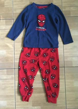 Пижама для мальчика человек паук rebel 3-4 года