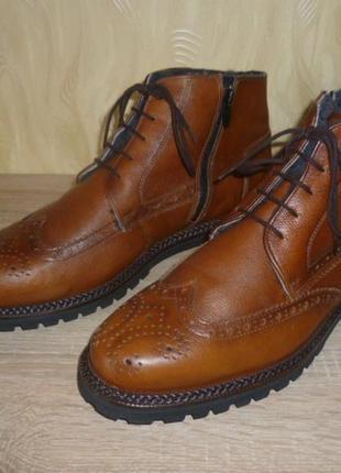 Кожаные зимние ботинки lloyd (ллойд) 45р.