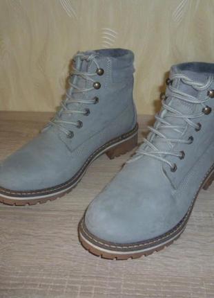 Кожаные зимние ботинки tamaris (тамарис) 39р. читаем
