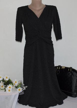 Брендовое фактурное миди платье signature by robbie bee