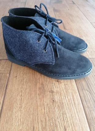 Оригинальные теплые ботинки дезерты inblu