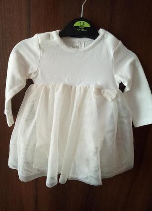 Платье - боди нарядное платьице 4-6 мес