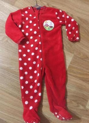 Человечек флисовый плюшевый детский на 1,5-2 года