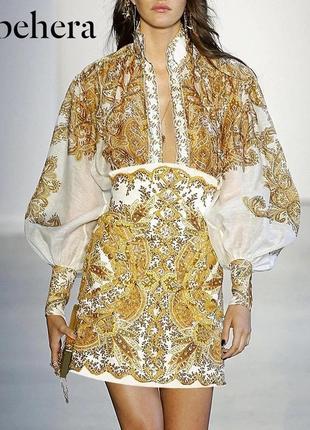 Роскошный костюм юбка блузка реплика известного бренда