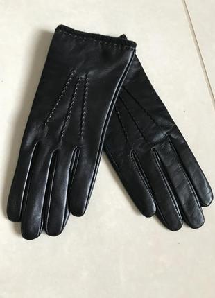 Перчатки кожаные утеплённые дорогой бренд германии tietzian heritier размер 7
