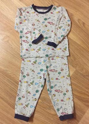 Трикотажная детская пижама для мальчика 2-3 года