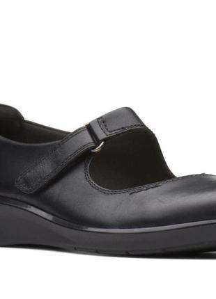 Кожаные туфли мокасины clarks cushion soft р 41