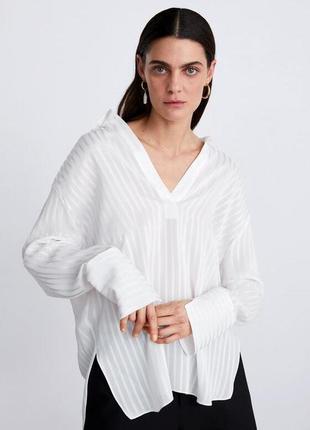 "Блуза из плотного шифона ""zara """