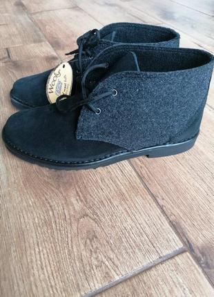 Комфортные замшевые ботинки дезерты инблу inblu
