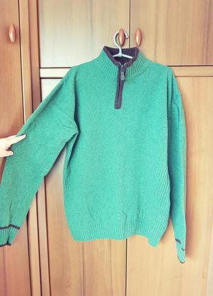 Шерстяной теплый свитер-джемпер размера 54-56.
