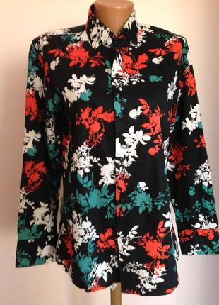 Emporio uomo. m/ italy/  мужская рубашка в цветочный принт