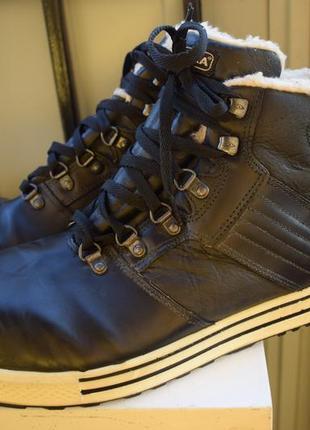 Зимние кожаные ботинки спецобувь стальной носок мех внутри cofra