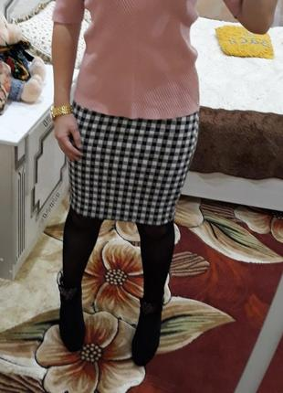 Шахматная юбка на резинке