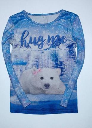 Реглан/свитерок с белым медвежонком