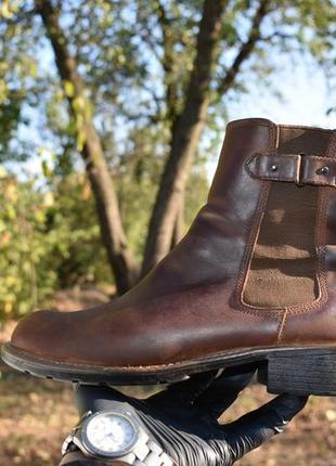 Clarks мужские челси ботинки кожаные на шерсти коричневые размер 40