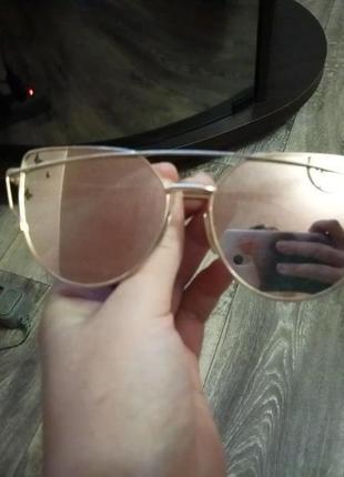 Зеркальные очки кошачий глаз
